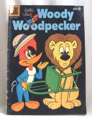 Woody Woodpecker No. 59 Comic Book Dell 1960 Vintage