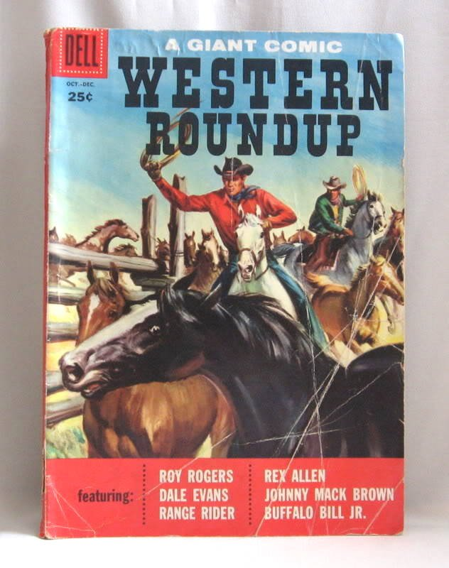 Western Roundup #20 Comic Book 1957 A Giant Comic Vintage