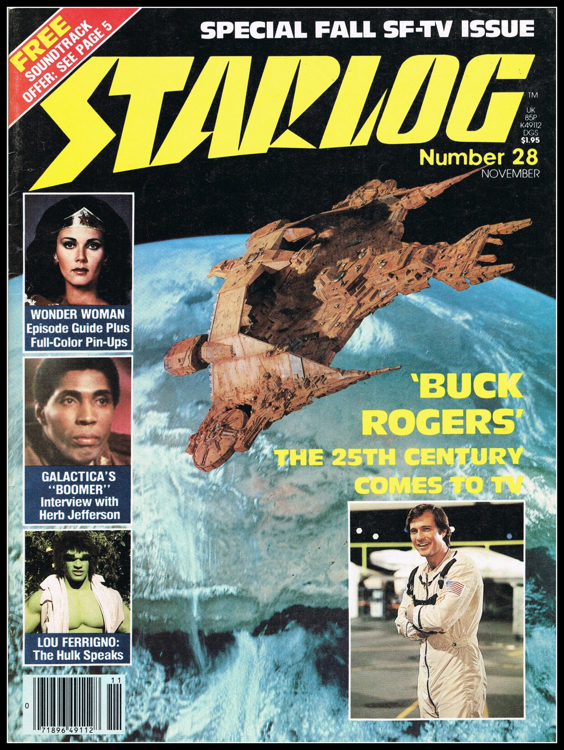 1979 Starlog Magazine #28 Special Fall SF-TV Issue Wonder Woman