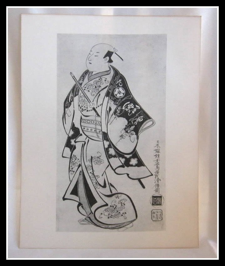 Japanese Print TORII KIYOMASU Portrait Of The Actor Vintage Rare