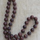 Vintage Brown Beaded Necklace Retro 70's