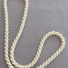 Pearl Necklace Cluster Beaded Gold Vintage