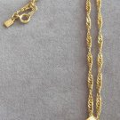 Vintage Red Stone Pendant Necklace Twisted Diamond Cut Rope Accents By Hallmark Cards