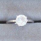 The Vanderbilt Jewel Solitaire Ring Silver Size 7 Vintage