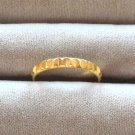 Fancy Gold Band Ring Diamond Cut Size 10 Unisex