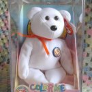 Color Me Bear Ty Beanie Baby in Case Retired 2002