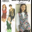 Misses Lined Vests Simplicity Sewing Pattern No. 8621 Sizes 16 To 20