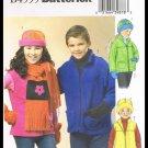 Childrens Boys Girls Jacket Vest Hat Scarf Mittens Butterick Sewing Pattern #B4595 Size 12-16