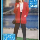 Butterick See & Sew Pattern No. 5620 Misses Jacket Top Pants Sizes 12 to 16 Vintage