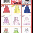 Butterick Sewing Pattern No. 6486 Nine Sew Fast And Easy Children Girls Dress Sizes 4-6