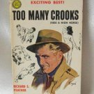 Too Many Crooks Shell Scott By Richard S. Prather Vintage Softcover Book 1957