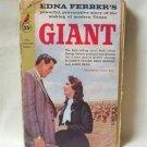 Giant By Edna Ferber Rock Hudson Liz Taylor Cover Vintage Softcover Book 1957