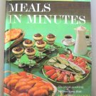 Meals In Minutes Cookbook Better Homes And Gardens Vintage 1963