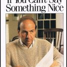 Calvin Trillin If You Can't Say Something Nice Hardcover Book