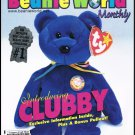 Mary Beth's Beanie World Monthly Magazine August 1998 Discontinued Bonus Stickers