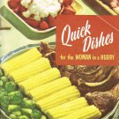 Quick Dishes For The Woman In A Hurry Culinary Arts Institute Cookbook Vintage 1965