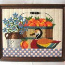 Handcrafted Sewn Duck In Frame Vintage Retro 15x12