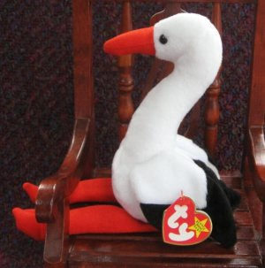 a8d32af86cc Stilts The Stork Ty Beanie Baby Retired 1999