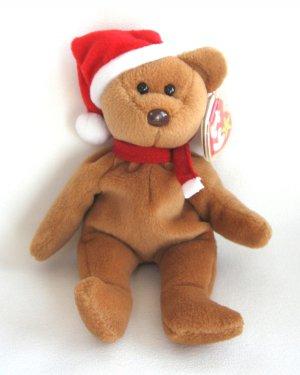 1997 Teddy Holiday Bear Ty Beanie Baby 4th Generation Tag Christmas Retired b5f442ef192d