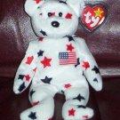 Glory The American USA Bear Ty Beanie Baby Retired 1998