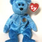 Classy Blue Bear The People's Choice Ty Beanie Baby Retired