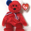 America The Red USA Bear In Memory Of September 11th Retired 2002