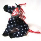 Lefty 2000 Ty Donkey Beanie Baby Retired USA