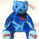 DAD-e Bear Ty Beanie Baby Retired Overnight 2002