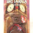 Britannia The Brown UK Bear Teenie Beanie Baby Retired 1999