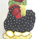 Painted Chicken Red Barn Wooden Box Decorative All Purpose Kitchen