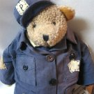 Teddy Tompkins Jeffery Police Officer Collectible Bear Enesco Large with Stand