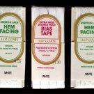 White Stretch Lace Hem Facing & Bias Tape J&P Coats Vintage Sewing Supplies 8 Yards