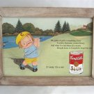 Campbell's Soup Nostalgic Advertising Tin Sign in Frame #20 Golfing Limited Edition 1993 Wall Decor