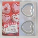 Wilton Little Hearts Aluminum Cake Pan Makes 4 Vintage 1990s