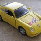 1996 Yellow Porsche 911 Carrera Medium Size Toy Diecast Car