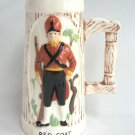 Vintage Large Stein 1776 Red Coat Military One Of A Kind Drina Handcrafted 1976