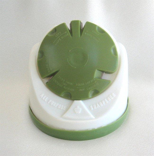 Vintage Retro Green All Purpose Knife Sharpener Hong Kong