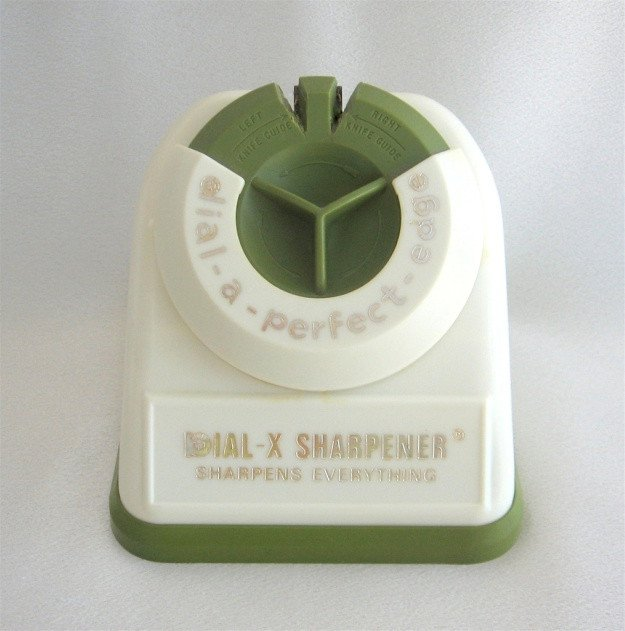 Knife Sharpener Dial A Perfect Edge Vintage Retro Green Color Western Select