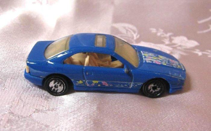 Blue Diecast Toy Car Sunroof By Hotwheels 1990