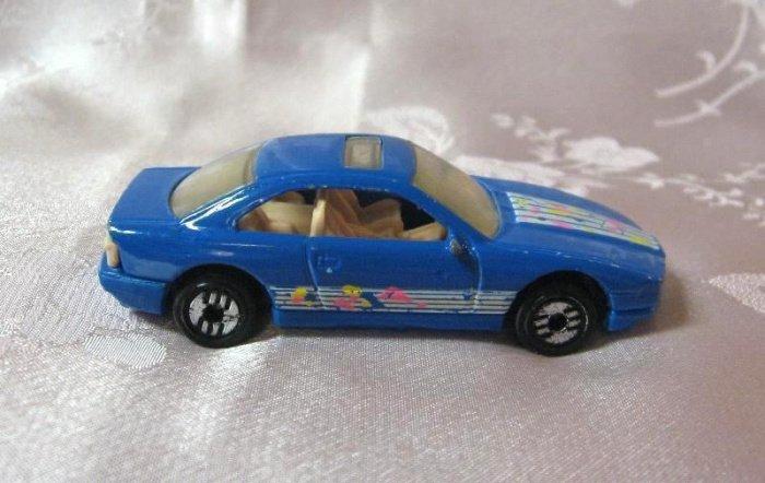 Hotwheels 1990 Blue Diecast Toy Car Sunroof