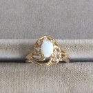 Ladies Oval Opal Sparkly Stone Ring Size 6