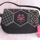 Embroidered Colorful Beaded Black Purse Handbag By Xhilaration
