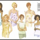 Butterick Sewing Pattern #5487 Fast & Easy Misses Tops Tank Top Shirts Sizes 12 14 16