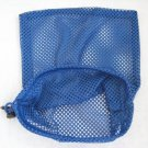 Blue Net Mesh Drawstring Laundry Carry All Bag