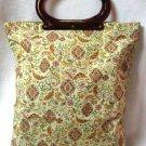 Lady's Pride Purse Handbag Tote Amber Lucite Handles Vintage Retro 60's