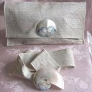 Mother Of Pearl Purse Set Includes Purse Belt Scarf Slide 3 Piece Set Handcrafted