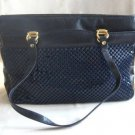 Vintage Dark Blue Metal Mesh Purse Handbag Hong Kong