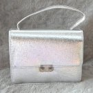 Flashy Fancy Silver Metallic Handbag Purse Vintage 80's