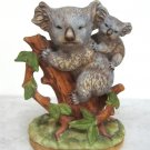 Vintage Lefton China Hand Painted Koala Bear And Baby Joeys Figurine