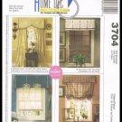 McCall's Sewing Pattern No. 3704 Home Decor Window Valances Roman Shade